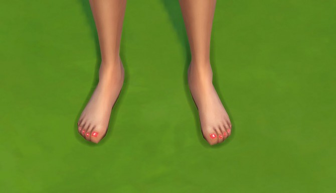 Sims 4 Polish nails toes by malicieuse75 at Mod The Sims