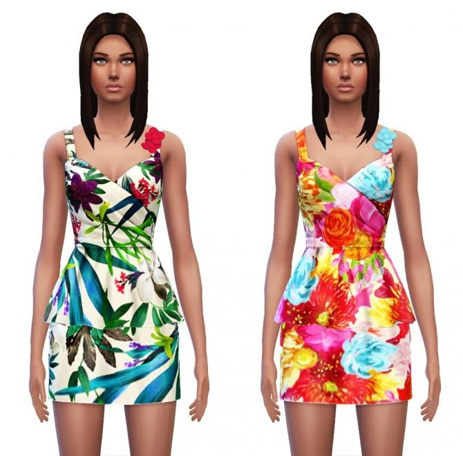 Floral Peplum Dress at Sim4ny image 3528 Sims 4 Updates