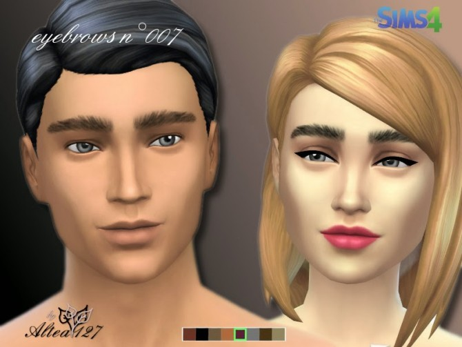 Sims 4 Eyebrows n°007 by Altea127 at TSR