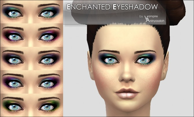 Enchanted Eyeshadow 5 colors by Vampire aninyosaloh at Mod The Sims image 3727 Sims 4 Updates