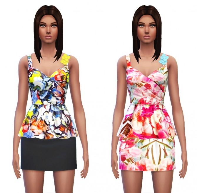 Floral Peplum Dress at Sim4ny image 3728 Sims 4 Updates
