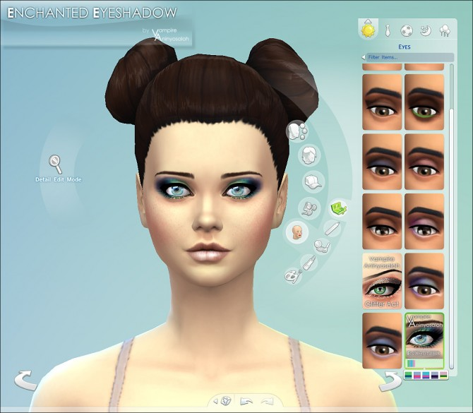 Enchanted Eyeshadow 5 colors by Vampire aninyosaloh at Mod The Sims image 3824 Sims 4 Updates