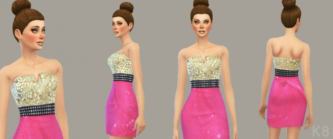 Sims 4 Sequin Cocktail Dress at K8 Sims