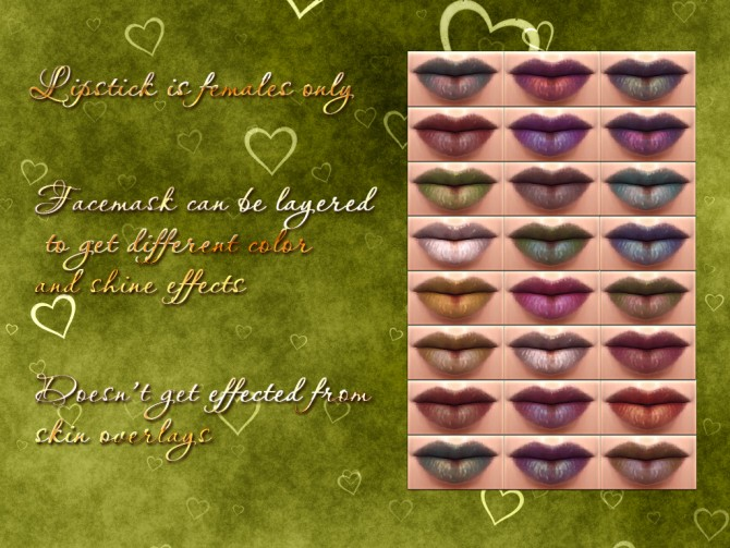 Sims 4 Lipstick and Facepaint by Notegain at Mod The Sims