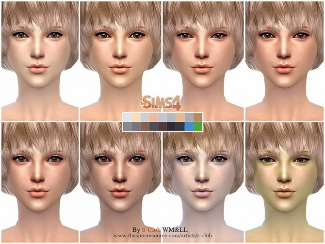 Sims 4 H.S ND skintone 2.0 by S Club WMLL at TSR