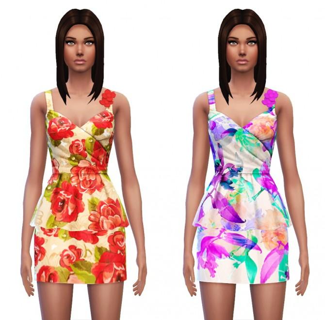 Floral Peplum Dress at Sim4ny image 3927 Sims 4 Updates