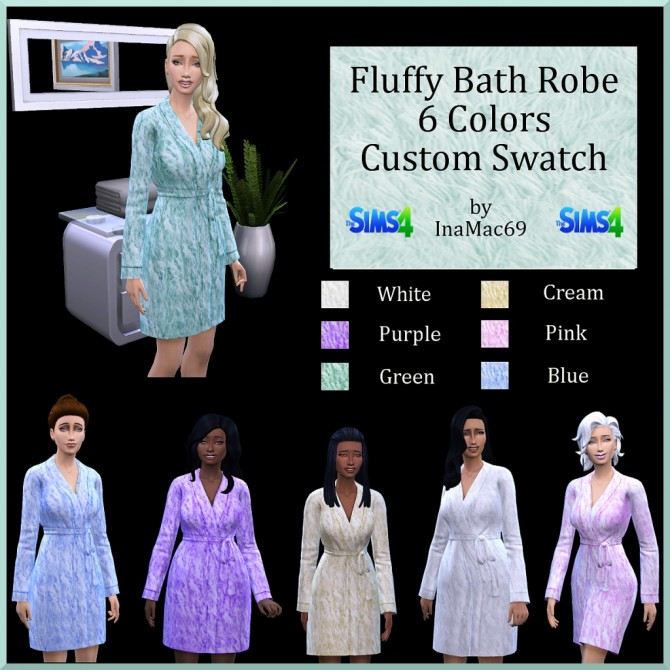 Fluffy Bath Robe by InaMac69 at Simtech Sims4 image 402 Sims 4 Updates