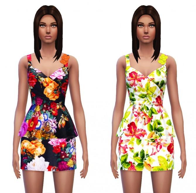 Floral Peplum Dress at Sim4ny image 4029 Sims 4 Updates