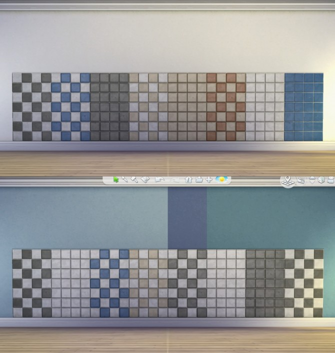 Sims 4 Basic Standard Add On Trim and Tile by plasticbox at Mod The Sims
