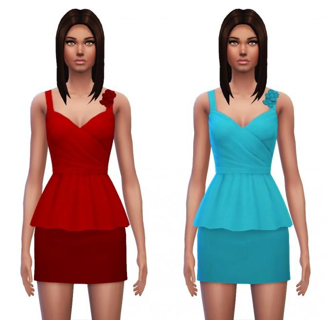 Floral Peplum Dress at Sim4ny image 4136 Sims 4 Updates