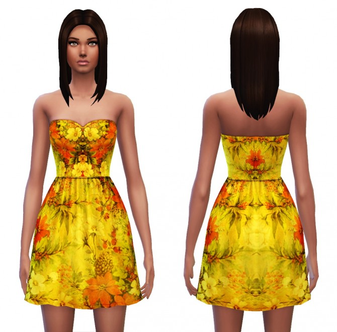 Strapless dress 7 designs at Sim4ny image 414 Sims 4 Updates