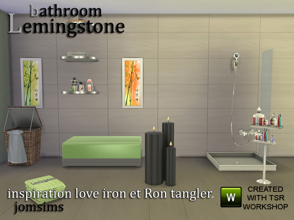 Lemingstone Bathroom by JomSims at TSR image 418 Sims 4 Updates