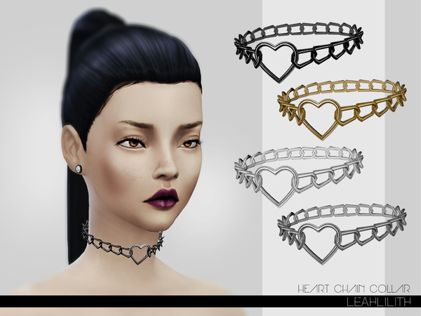 Heart Chain Collar by LeahLillith at TSR image 4219 Sims 4 Updates