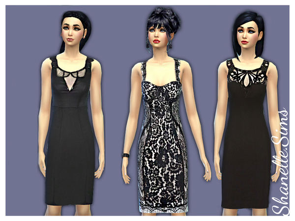 Pencil fitted dresses by shanelle.sims at TSR image 4222 Sims 4 Updates