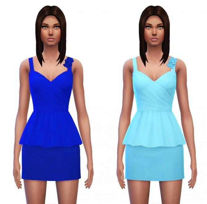 Floral Peplum Dress at Sim4ny image 4228 Sims 4 Updates