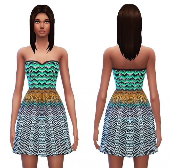 Strapless dress 7 designs at Sim4ny image 423 Sims 4 Updates