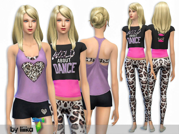 Sims 4 Wild Animal Sporty Set by lillka at TSR