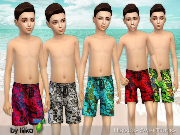 Hibiscus Swim Trunks by lillka at TSR image 4319 Sims 4 Updates