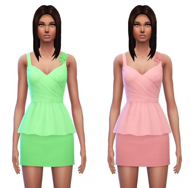 Floral Peplum Dress at Sim4ny image 4328 Sims 4 Updates