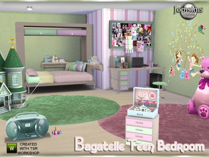Bagatelle Bedroom By Jomsims At Tsr Image 440 Sims 4 Updates