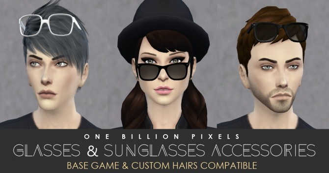 Sims 4 Glasses & Sunglasses at One Billion Pixels