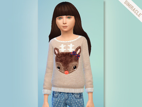 Sims 4 Reindeer Sweater at Simiracle