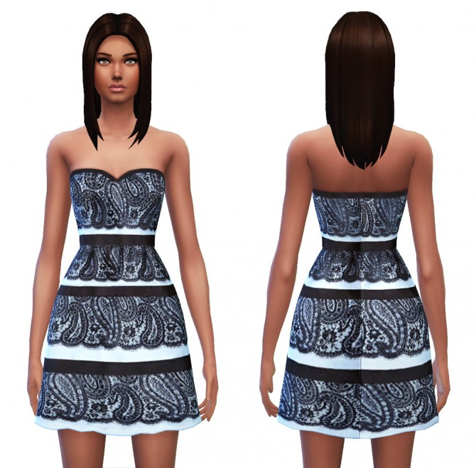 Strapless dress 7 designs at Sim4ny image 443 Sims 4 Updates
