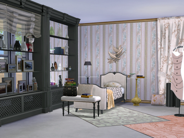 Sims 4 Power of Pink Single Bedroom by ShinoKCR at TSR