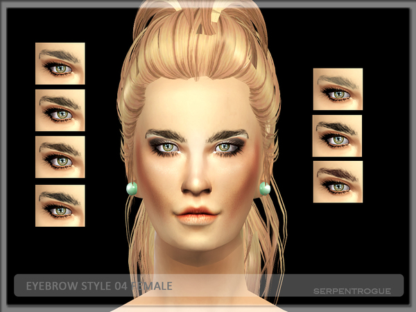 Sims 4 Eyebrows 04 female by Serpentrogue at TSR