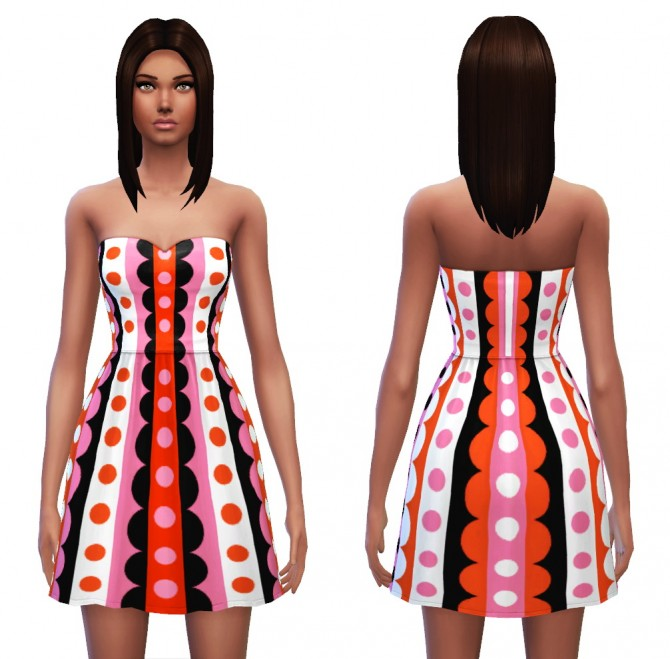 Strapless dress 7 designs at Sim4ny image 453 Sims 4 Updates