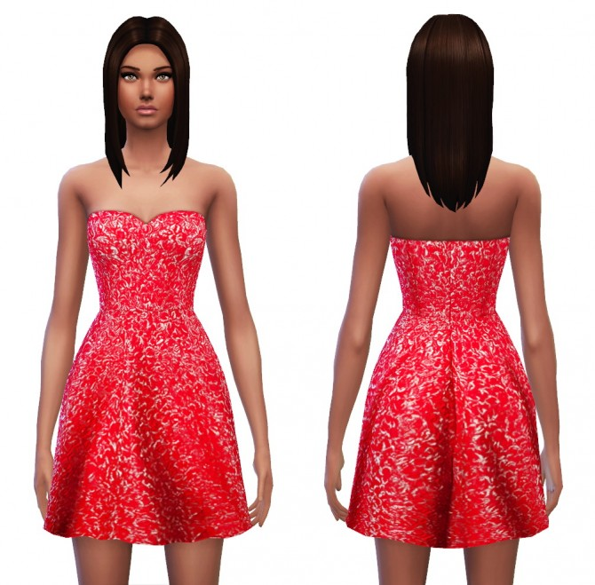 Strapless dress 7 designs at Sim4ny image 463 Sims 4 Updates