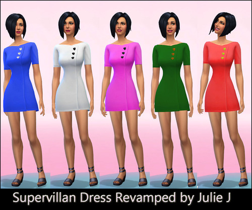 Super Villain Dress Revamped At Julie J 187 Sims 4 Updates