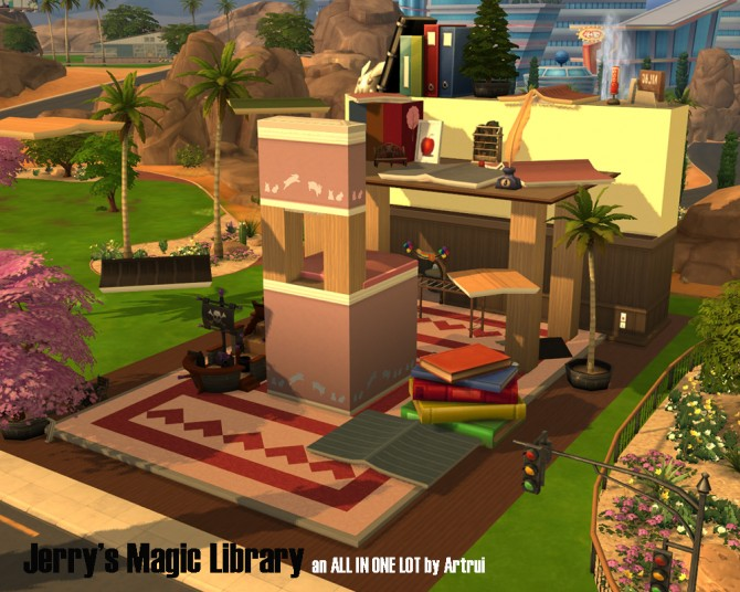 Jerrys magic library by artrui at Mod The Sims image 465 Sims 4 Updates