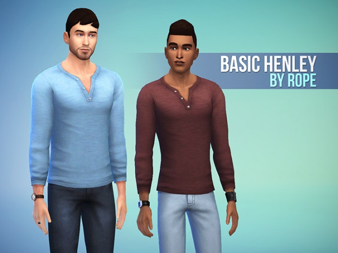 Basic Henley at Simsontherope image 4723 Sims 4 Updates