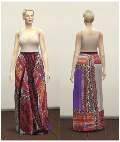 Sims 4 Ethnic Patchwork Skirt at Rusty Nail