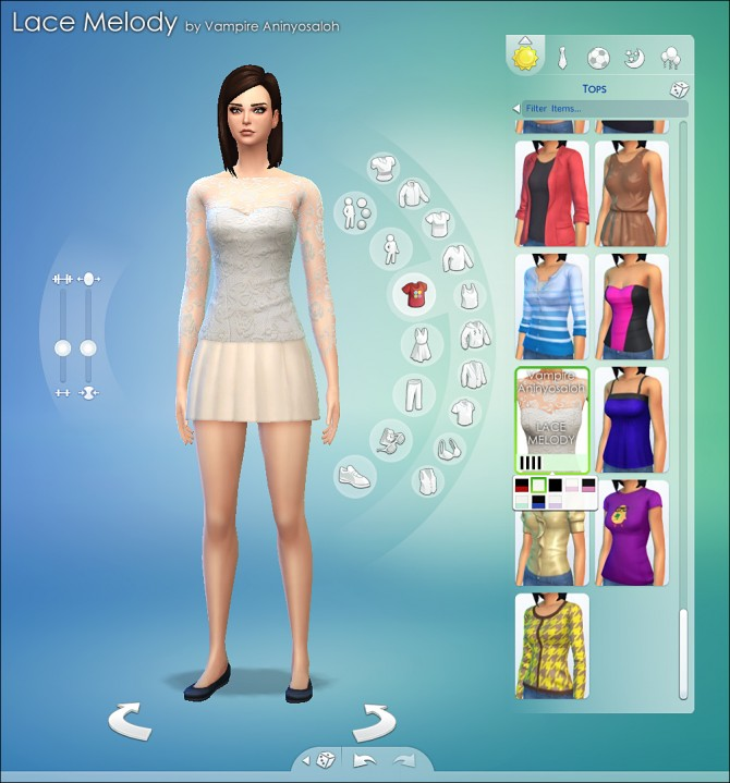 Lace Melody Blouse by Vampire_aninyosaloh at Mod The Sims ...