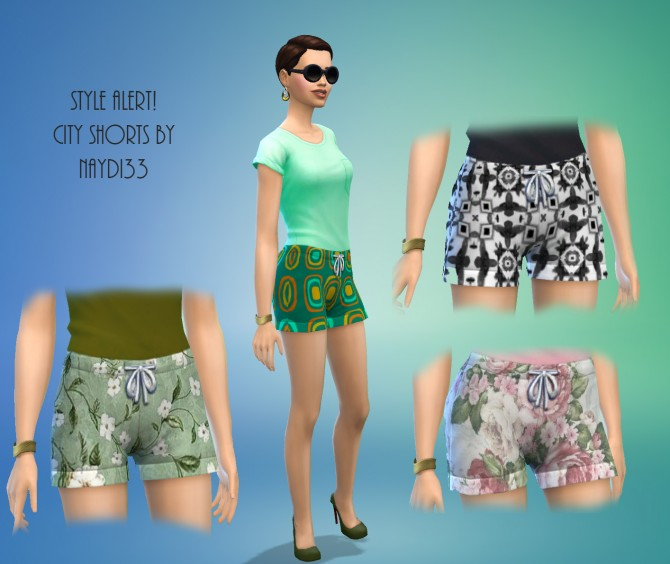 Sims 4 Dressed up City Shorts by Davinia at Mod The Sims