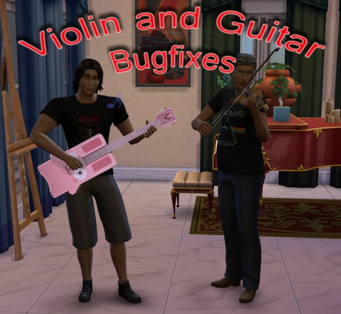 Sims 4 Violin and Guitar Bugfixes by scumbumbo at Mod The Sims