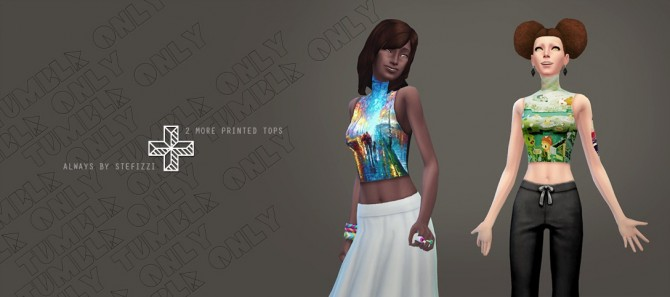 Sims 4 Simple crop top at Stefizzi