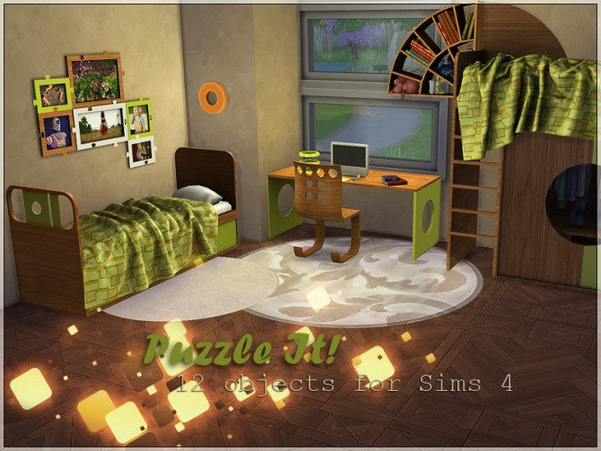 Puzzle It! bedroom set by Li.Ko at Sims Studio image 5115 Sims 4 Updates