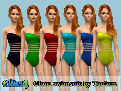 Sims 4 Glam swimsuit at Tankuz Sims4