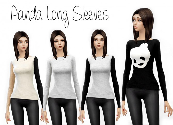 Sims 4 Panda Long Sleeves at Dani Paradise