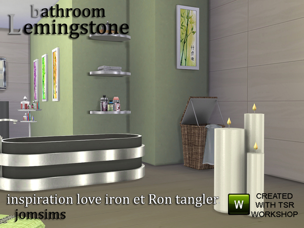 Lemingstone Bathroom by JomSims at TSR image 517 Sims 4 Updates