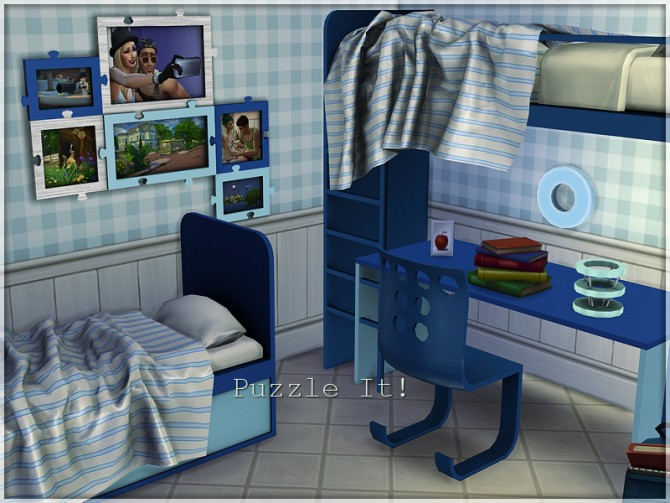 Sims 4 Puzzle It! bedroom set by Li.Ko at Sims Studio