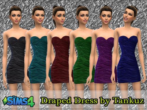 Sims 4 Draped Dress at Tankuz Sims4