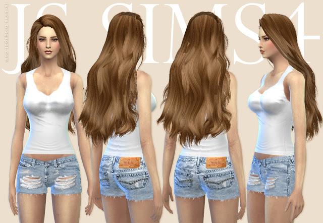 Tank Top Clothing & Ripped Shorts at JS Sims 4 image 5219 Sims 4 Updates