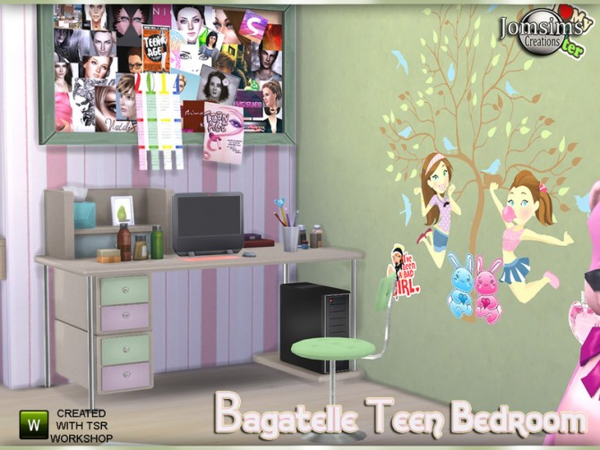 Bagatelle bedroom by jomsims at TSR image 540 Sims 4 Updates
