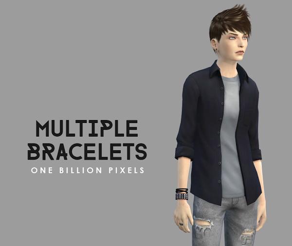 Multiple Bracelets & Male Sim at One Billion Pixels image 54111 Sims 4 Updates