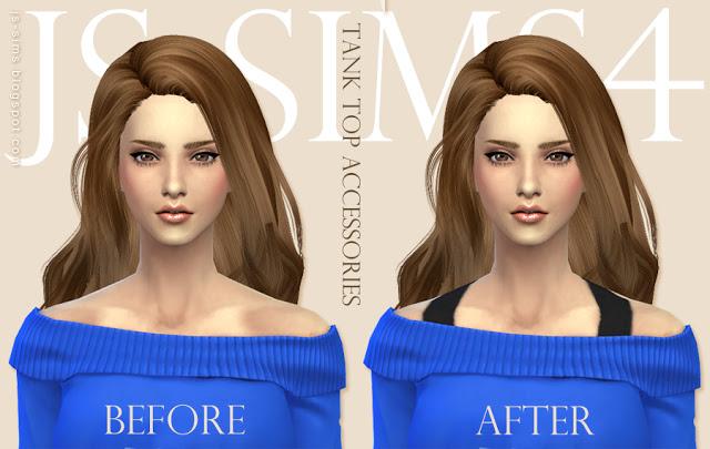 Tank Top Clothing & Ripped Shorts at JS Sims 4 image 5417 Sims 4 Updates