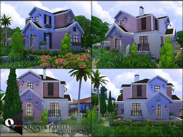 Sims 4 Quinte Feuille house by Onyxium at TSR